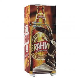 Adesivo Geladeira BRAHMA 01 Vinil Branco  4x0 Brilho, Fosco  Cód: 647903