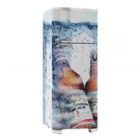 Adesivo Geladeira Budweiser 03 Vinil Branco  4x0 Brilho, Fosco  Cód: 647904
