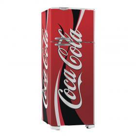 Adesivo Geladeira Coca Cola 02 Vinil Branco  4x0 Brilho, Fosco  Cód: 647910