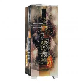 Adesivo Geladeira Jack Daniels 03 Vinil Branco  4x0 Brilho, Fosco  Cód: 647907