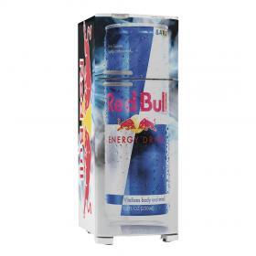 Adesivo Geladeira Red Bull 01 Vinil Branco  4x0 Brilho, Fosco  Cód: 647908