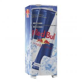 Adesivo Geladeira Red Bull 02 Vinil Branco  4x0 Brilho, Fosco  Cód: 647909