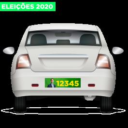 Adesivos De Parachoque Eleições 2020 30x10cm Vinil Branco 30x10 4x0 Brilho Refile Cód: 928010