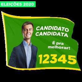 Bandeiras Eleições 2020 100x50cm Tecido 100x50 4x0  Refile Cód: 316065