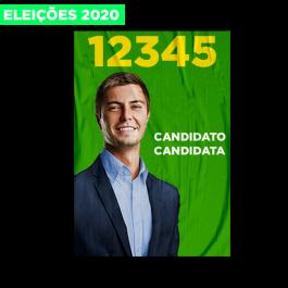 Cartaz Eleições 2020 Papel 60x40 4x0  Refile Cód: 608122