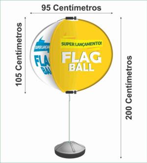 FLAGBALL KIT COMPLETO - 4X0 - 1unid Tecido 100 poliester 1000x2000mm