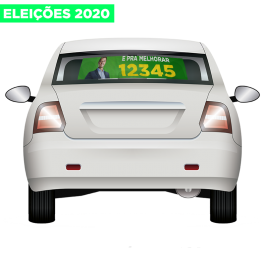10 MINI MICRO-PERFURADO ELEIÇÕES 2020 60X40CM E 80X40CM (PRODUTO ESGOTADO) Adesivo Micro-Perfurado 60X40 4x0  Refile Cód: 389627