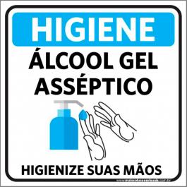 Sinalização Álcool Gel PVC ADESIVADO  4x0  Corte Reto Cód: 978140