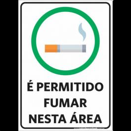 Sinalização É Permitido Fumar PVC ADESIVADO  4x0  Corte Reto Cód: 928587