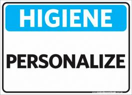 Sinalização Higiene Personalizado PVC ADESIVADO  4x0  Corte Reto Cód: 752514