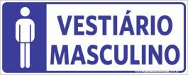 Sinalização Vestiário Masculino PVC ADESIVADO  4x0  Corte Reto Cód: 860682
