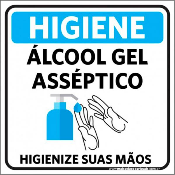 Sinalização Álcool Gel