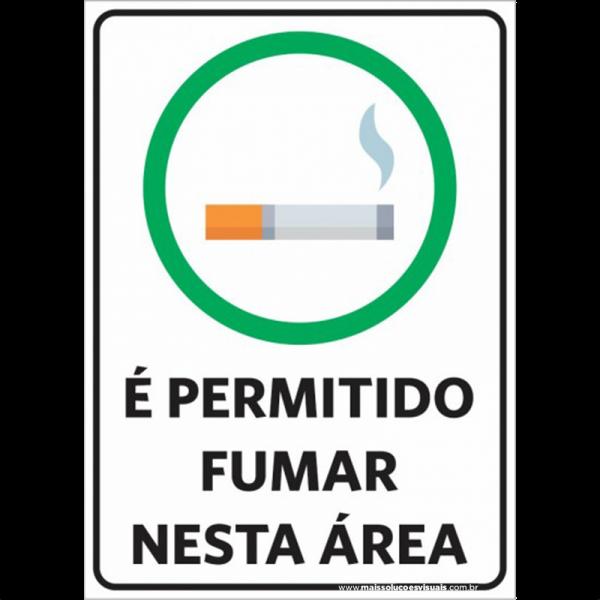 Sinalização É Permitido Fumar
