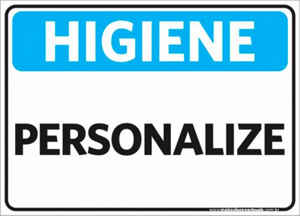 Sinalização Higiene Personalizado